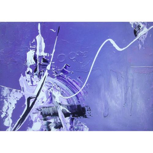 'Sogno Viola', 70 x 50 cm