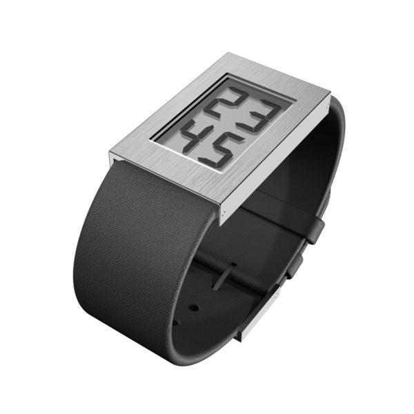 'Watch' Digitaal met leren band, klein model