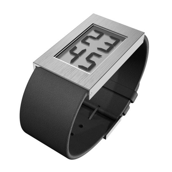 'Watch' Digitaal met leren band, groot model
