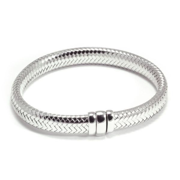 Armband ´Simplicity rules´ in gerhodineerd zilver